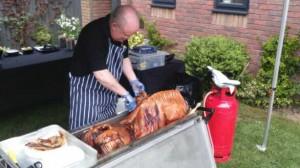 hog roast Overton-on-Dee